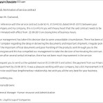 Contract service Termination Letter