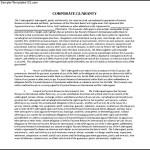 Corporate Guarantee Document