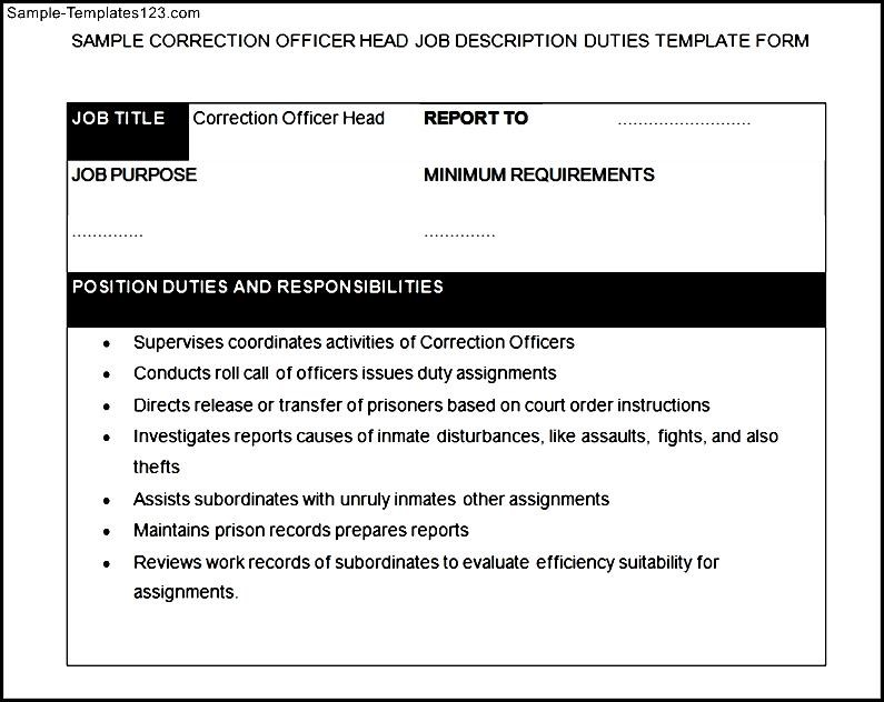 Correctional Officer Job Description. Correctional ...