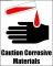 Corrosive Material Sign Template