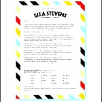 Creative resume template with cover letter CV template in Stripes