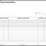 Credit Purchase Requisition Form Template