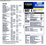 Cruise Campus Itinerary Template Example PDF Format