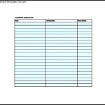 Customer Contact List Template Free
