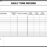 Daily Time Record Form Template