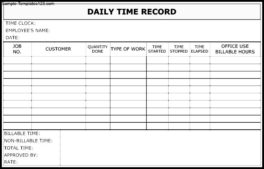 time recording template