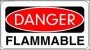 Danger Flammable Sign Template