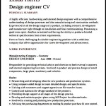 Design Engineer CV Template