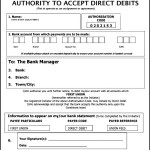 Direct Debit Form Template