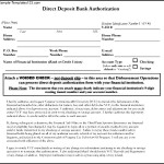 Direct Deposit Bank Authorization Form