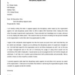 Disciplinary Appeal Letter Template Free Download Word