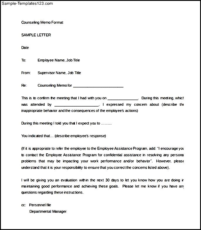 Letter Of Counseling Example from www.sample-templatess123.com