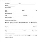 Discrimination Complaint Form of EEOC