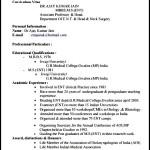 Doctor Resume Format