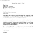 Download Business Thank You Letter to Vendor Free Sample