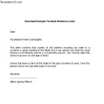 Download Example for Bank reference Letter