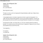 Download Sample Nurse Resignation Letter Word Doc