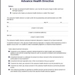 Downloadable Advance Health Directive Form