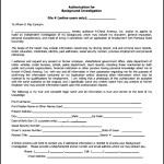 Downloadable Background Check Form