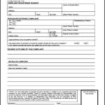 Downloadable Consumer Complaint Form