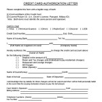 Downloadable Credit Card Authorization Letter