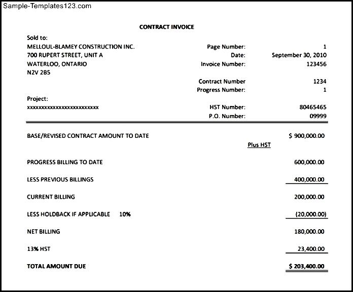 Downloadable General Invoice Template Sample Templates Sample - Sample invoice for tree removal