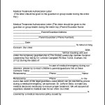 Downloadable Medical Treatment Authorization Form