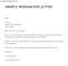 Downloadable Resignation Letter Short Notice
