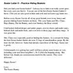 Easter Bunny Letter Template Free