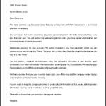 Editable Job Termination Letter to Employer