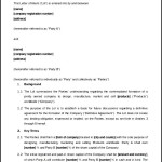 Editable Letter of Intent for Business Partnership Word Format