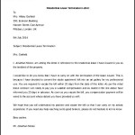 Editable Residential Lease Termination Letter Template