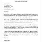 Editable Teacher Retirement Letter Template Sample Word