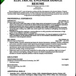 Electrical Engineer Resume Sample 2016
