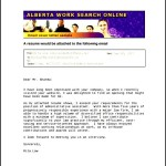 Email Cover Letter PDF Template Free Download