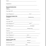 Emergency Contact Information Form of Employee
