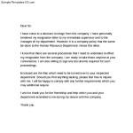 Employee 2 Weeks Resignation Notice Letter