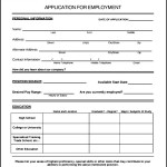 Employee Application Form Sample
