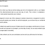 Employee Contract Termination Letter Template Free Download