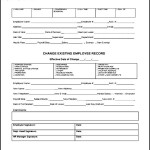 Employee Payroll Personnel Change Form