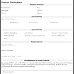Employee Warning Form Template