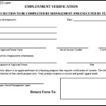 Employee verification Form
