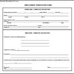 Employment Verification Form In PDF