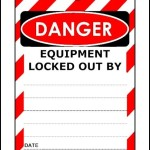 Equipment Lockout Tag Template