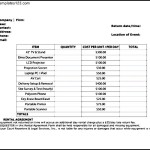 Equipment Rent Invoice Template