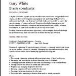 Events Coordinator Cv Template PDF