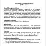 Events and Marketing Coordinator Posting PDF