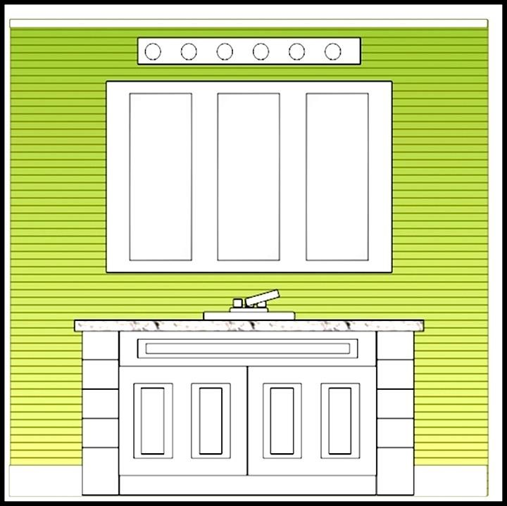 Example bathroom elevation template sample templates for Bathroom templates for planning