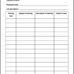 Example Employee Training Record Template