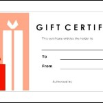 Example Gift Certificate Template